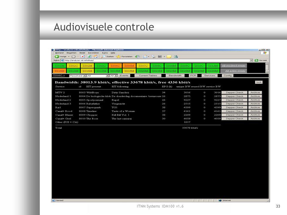 ITNM Systems IDM100 v1.633 Audiovisuele controle