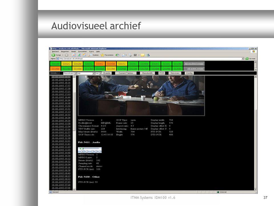 ITNM Systems IDM100 v1.637 Audiovisueel archief