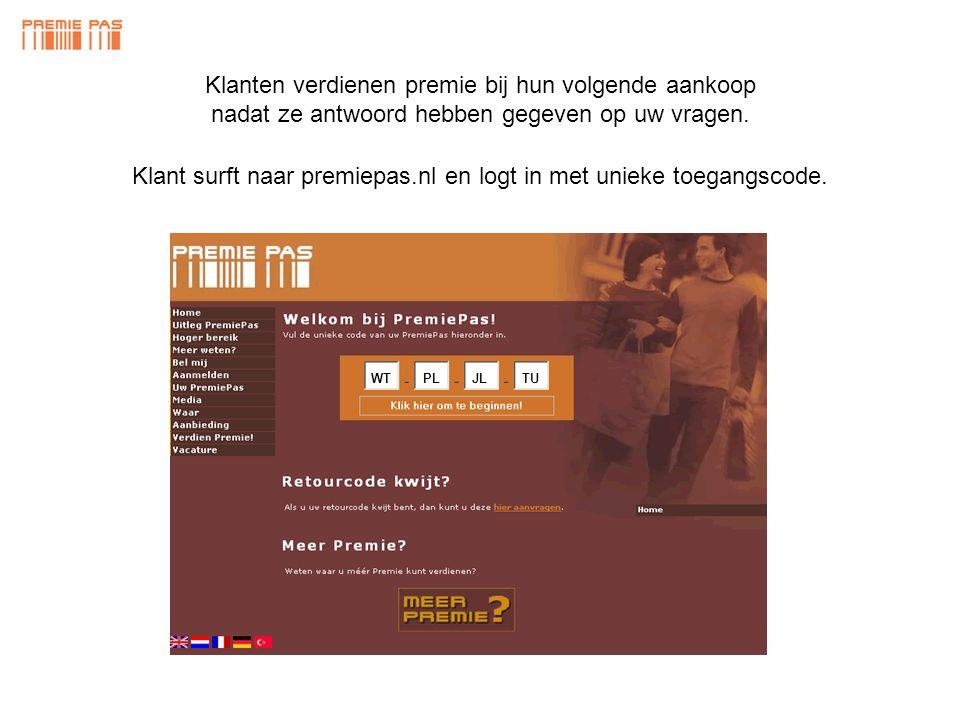 • 4000 PremiePassen Pakket B • Drukwerk en transport • Database inrichting - toekenning • Regio trainingavond 1145 euro