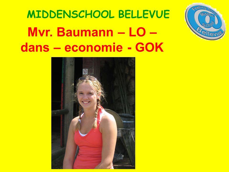 Mvr. Baumann – LO – dans – economie - GOK MIDDENSCHOOL BELLEVUE