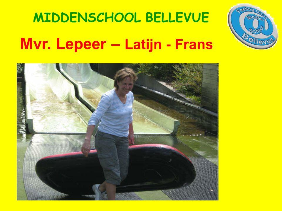 Mvr. Lepeer – Latijn - Frans MIDDENSCHOOL BELLEVUE