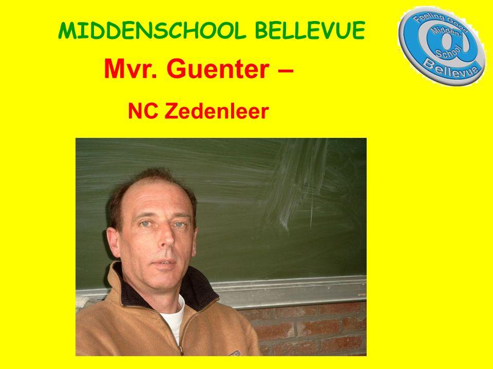 Mvr. Guenter – NC Zedenleer MIDDENSCHOOL BELLEVUE
