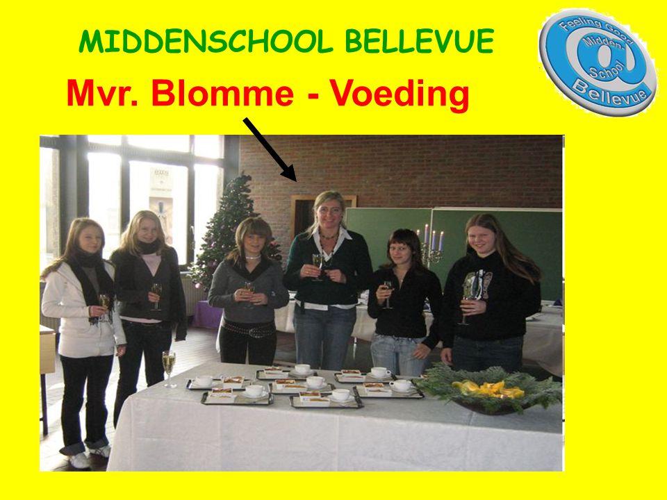 Mvr. Blomme - Voeding MIDDENSCHOOL BELLEVUE