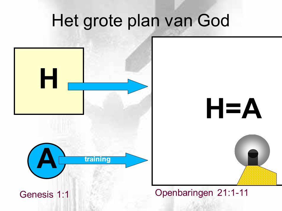 Openbaringen 21:1-11 A H H=A Het grote plan van God Genesis 1:1 training