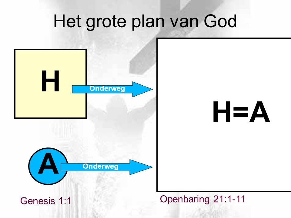 Openbaring 21:1-11 A H H=A Het grote plan van God Genesis 1:1 Onderweg