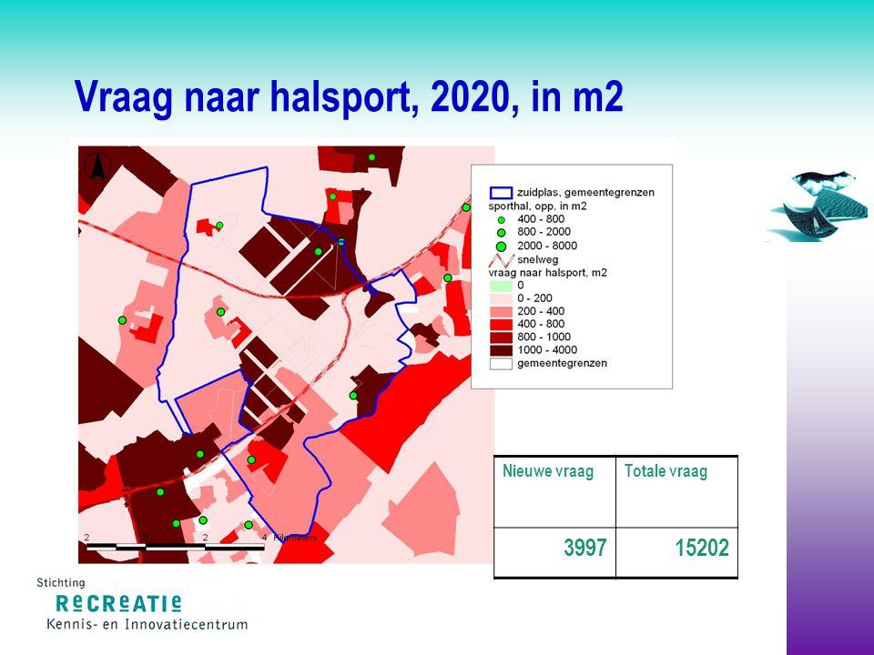 Vraag naar halsport, 2020, in m2 Totale vraag 15202 Nieuwe vraag 3997