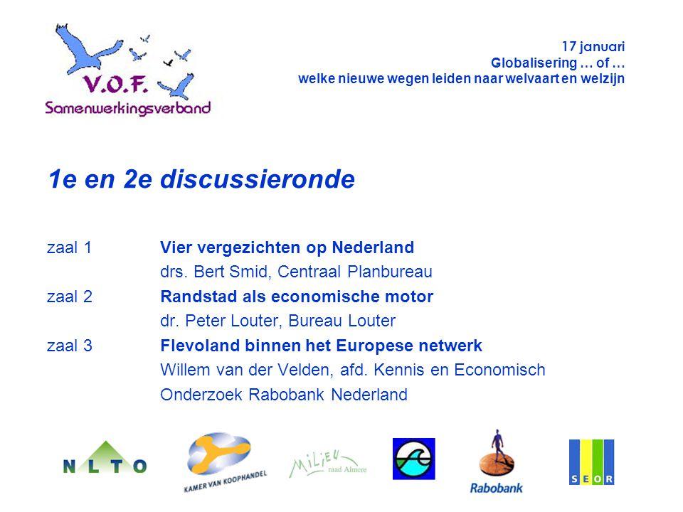 1e en 2e discussieronde zaal 1Vier vergezichten op Nederland drs.