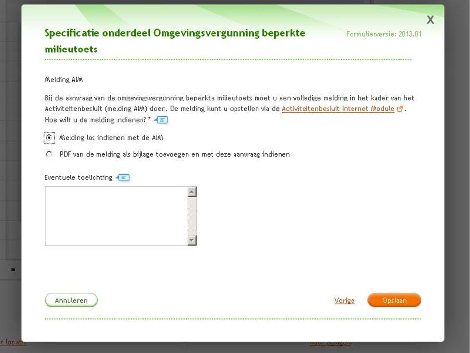 Rijkswaterstaat 16Water, Verkeer en Leefomgeving 3 december 2013 De aanvraag