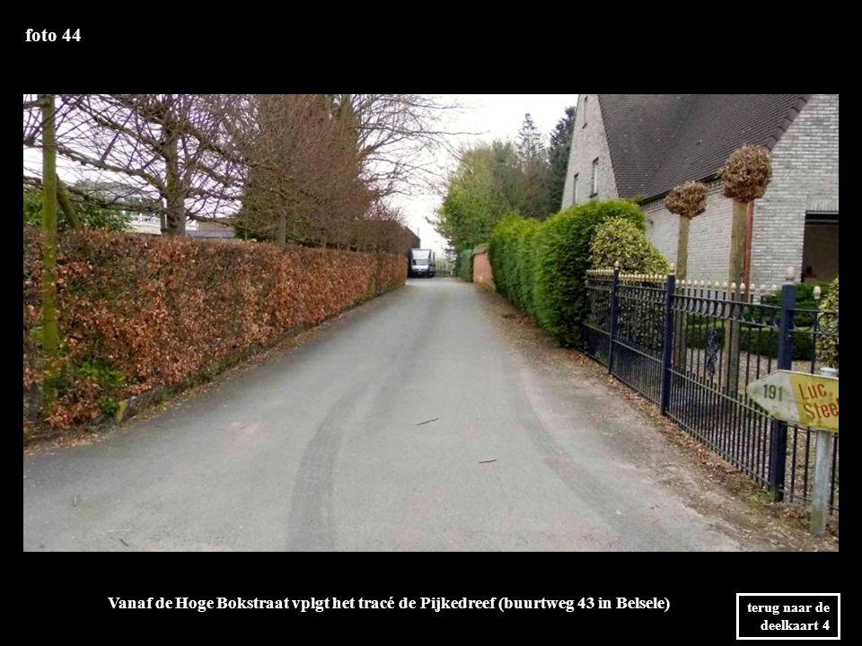 foto 44 Vanaf de Hoge Bokstraat vplgt het tracé de Pijkedreef (buurtweg 43 in Belsele) terug naar de deelkaart 4