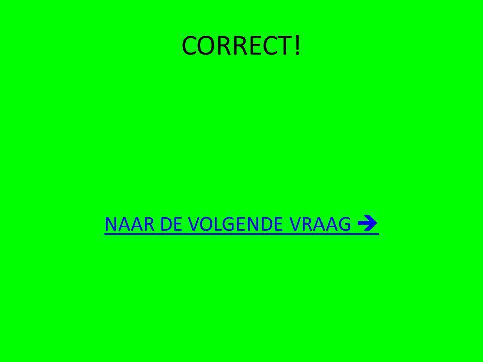 CORRECT! NAAR DE VOLGENDE VRAAG 