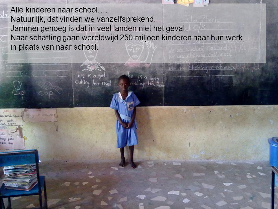 Alle kinderen naar school…. Natuurlijk, dat vinden we vanzelfsprekend. Jammer genoeg is dat in veel landen niet het geval. Naar schatting gaan wereldw