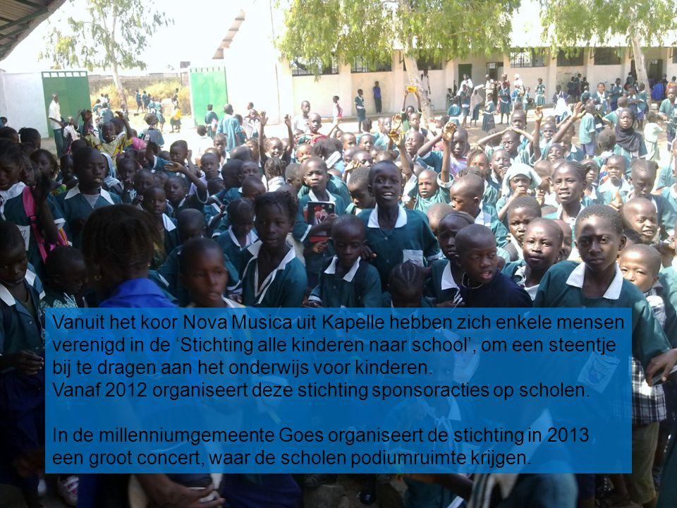 Vanuit het koor Nova Musica uit Kapelle hebben zich enkele mensen verenigd in de 'Stichting alle kinderen naar school', om een steentje bij te dragen