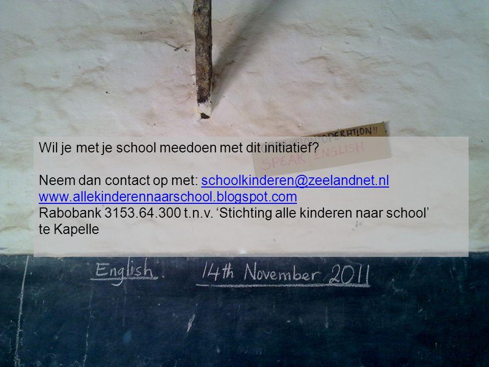 Wil je met je school meedoen met dit initiatief? Neem dan contact op met: schoolkinderen@zeelandnet.nlschoolkinderen@zeelandnet.nl www.allekinderennaa