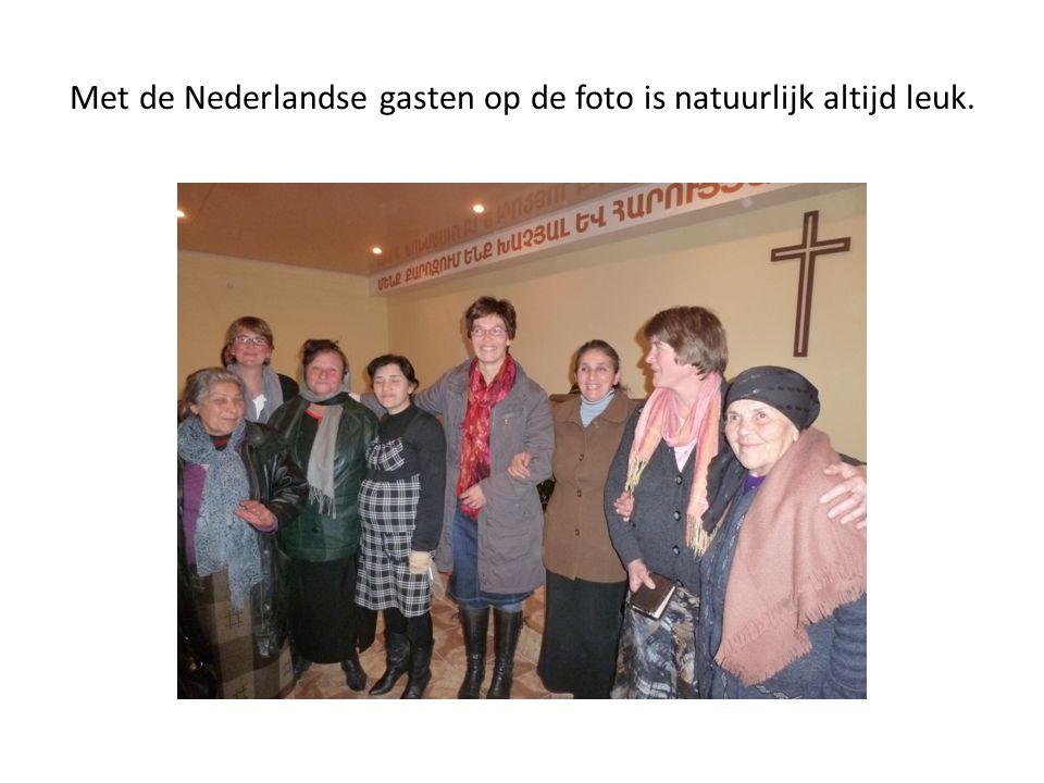 Met de Nederlandse gasten op de foto is natuurlijk altijd leuk.