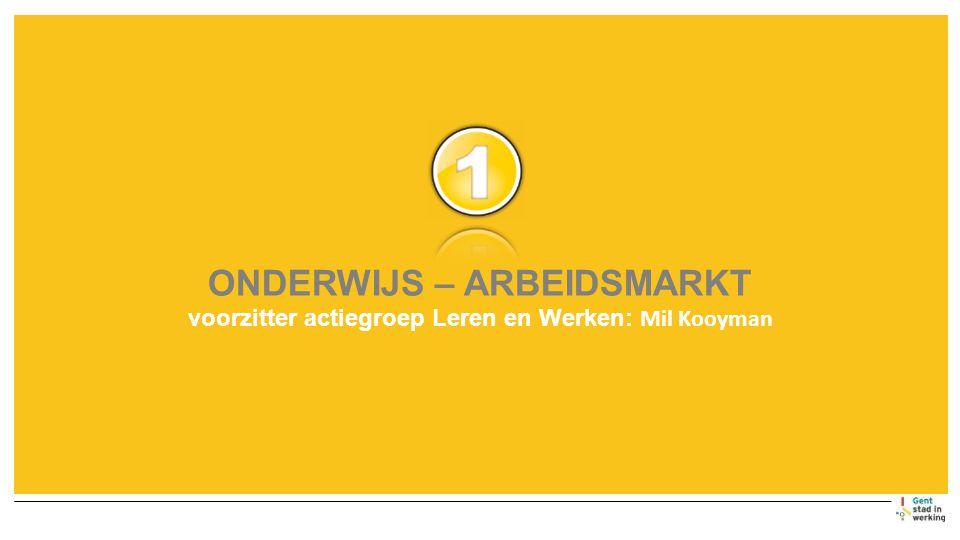 ONDERWIJS – ARBEIDSMARKT voorzitter actiegroep Leren en Werken: Mil Kooyman