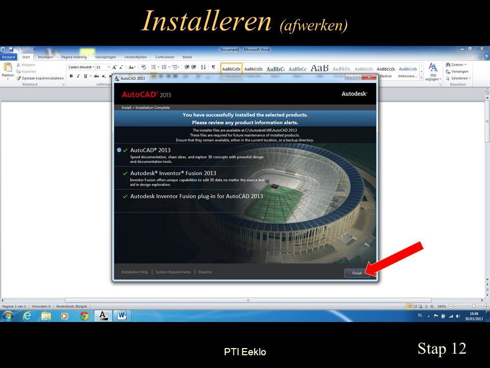 PTI Eeklo Installeren (afwerken) Stap 12