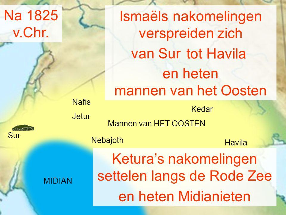 Havila Kedar Nebajoth Na 1825 v.Chr.