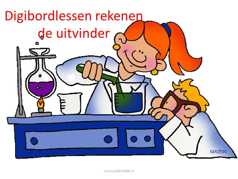 Digibordlessen rekenen de uitvinder www.jufjanneke.nl