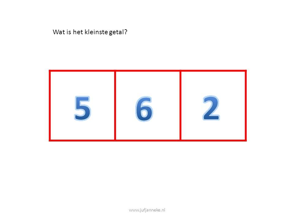 www.jufjanneke.nl Wat is het grootste getal?