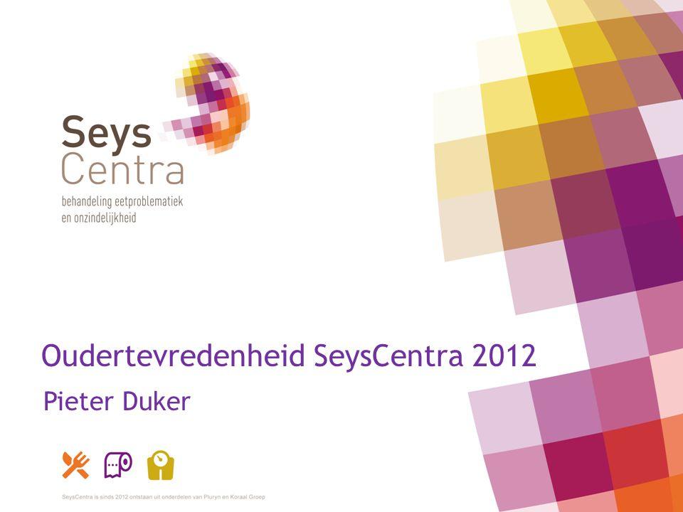 Oudertevredenheid SeysCentra 2012 Pieter Duker