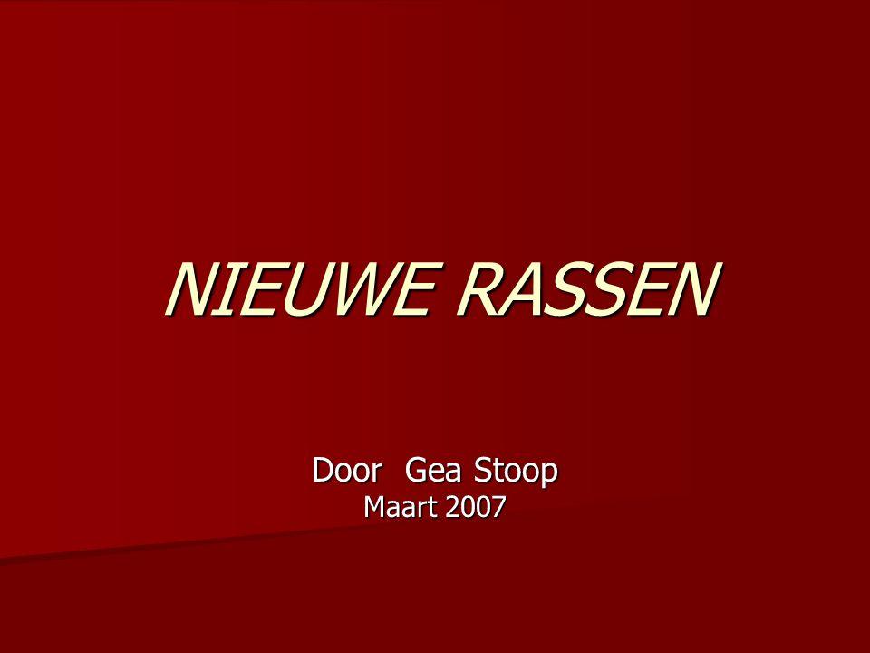 NIEUWE RASSEN Door Gea Stoop Maart 2007