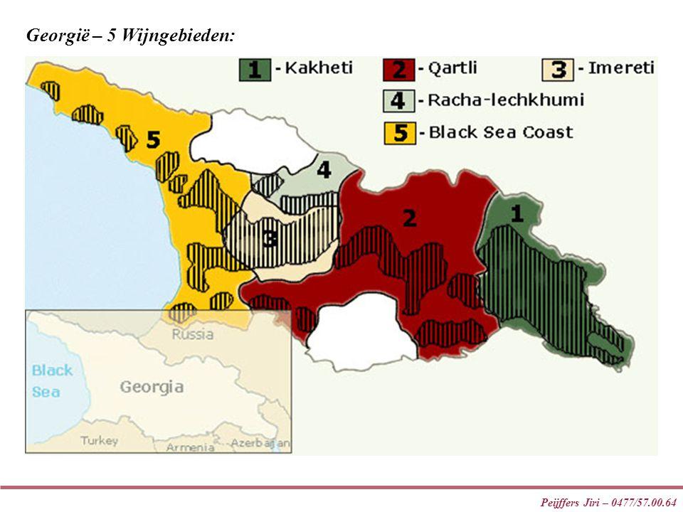 Peijffers Jiri – 0477/57.00.64 Georgië – 5 Wijngebieden: