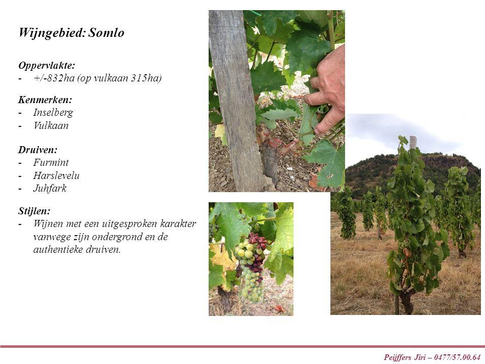 Peijffers Jiri – 0477/57.00.64 Wijngebied: Somlo Stijlen: -Wijnen met een uitgesproken karakter vanwege zijn ondergrond en de authentieke druiven.