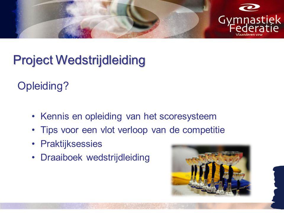 Project Wedstrijdleiding Opleiding.