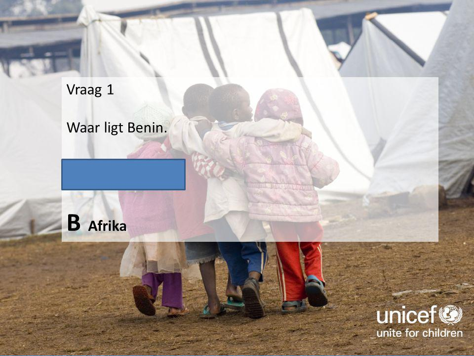 Vraag 2 Hoeveel van de bewoners van Benin leven in grote armoede.
