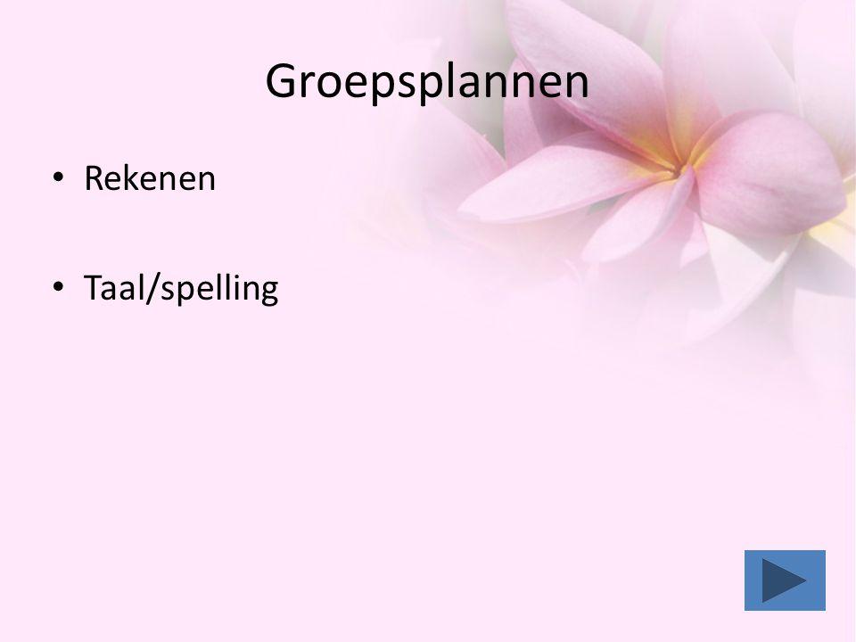 Groepsplannen • Rekenen • Taal/spelling