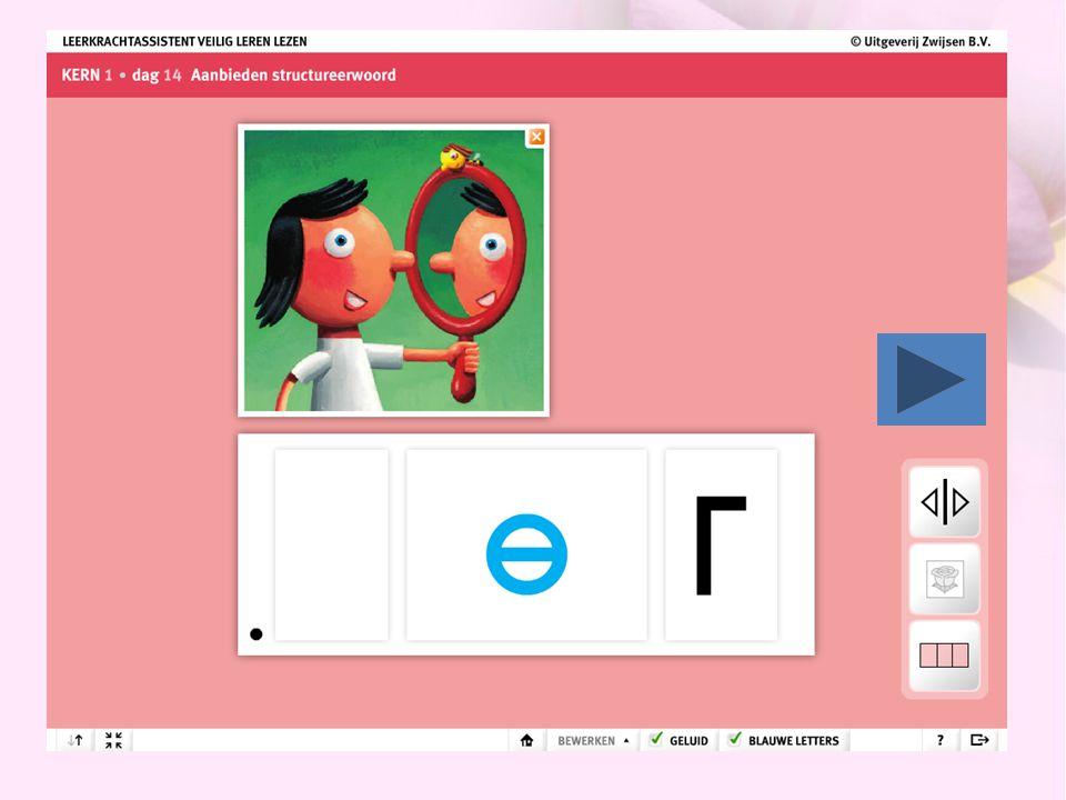 Dagelijkse vakken • Lezen Methode 'veilig leren lezen' -Bestaat uit 12 kernen -Kern 1 t/m 6: * letters aanleren (mmm en niet em!) (technisch lezen) * woorden leren lezen -Kern 7 t/m 12: * tempo lezen * begrijpend lezen * hoofdletters * samengestelde woorden (voet-bal, zak-doek) * letterclusters (be-/ge-/-lijk woorden)