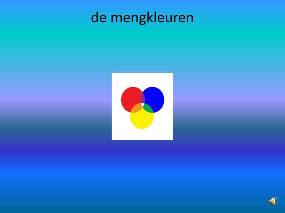de regenboogkleuren rood,oranje,geel,groen,blauw,paars.
