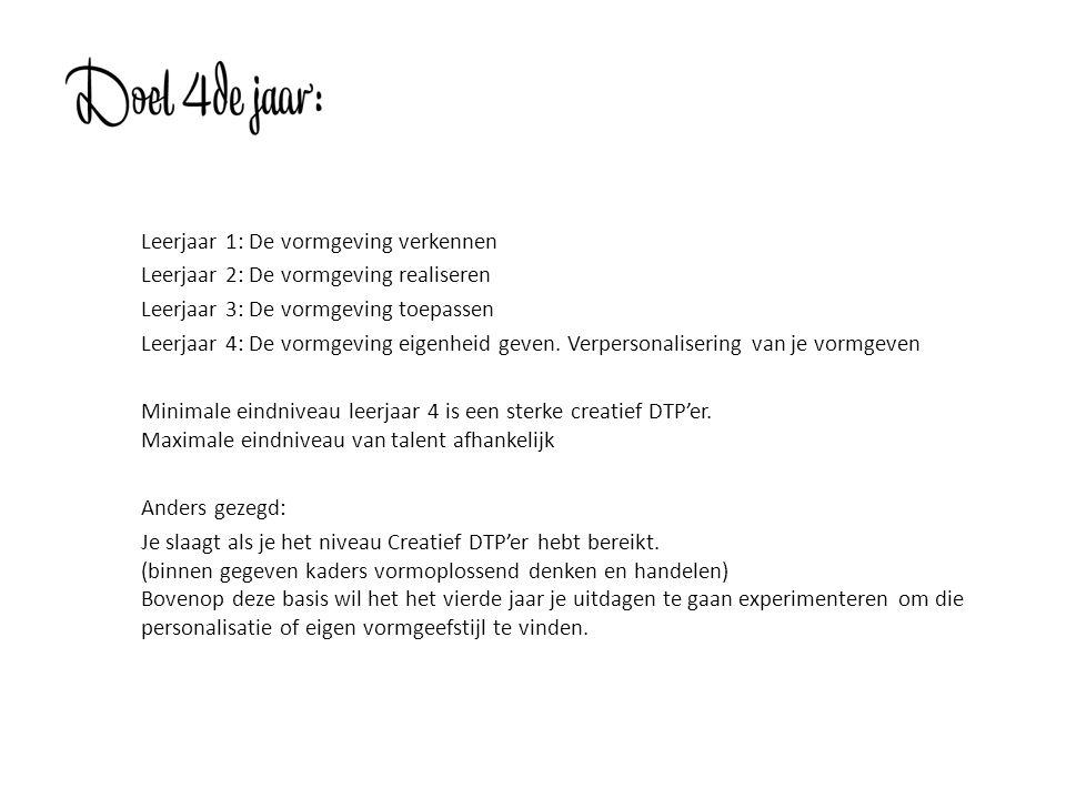 1.Typografisch Vormgeven 2. Conceptdenken 3. Styling 4.