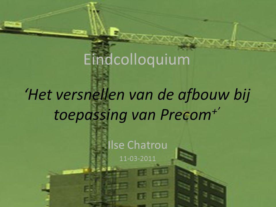 1. Precom + 12 Inleiding Afstudeer- onderwerp Onderzoeksfase Ontwerpfase Slot Dag 3Dag 9Dag 12Dag 6