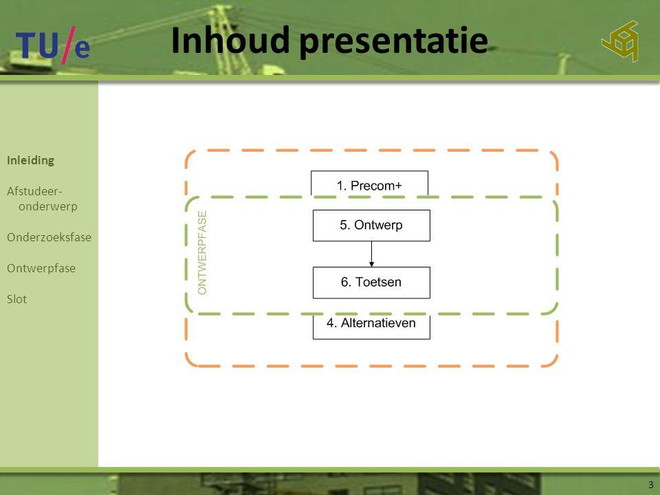 Inhoud presentatie 3 Inleiding Afstudeer- onderwerp Onderzoeksfase Ontwerpfase Slot