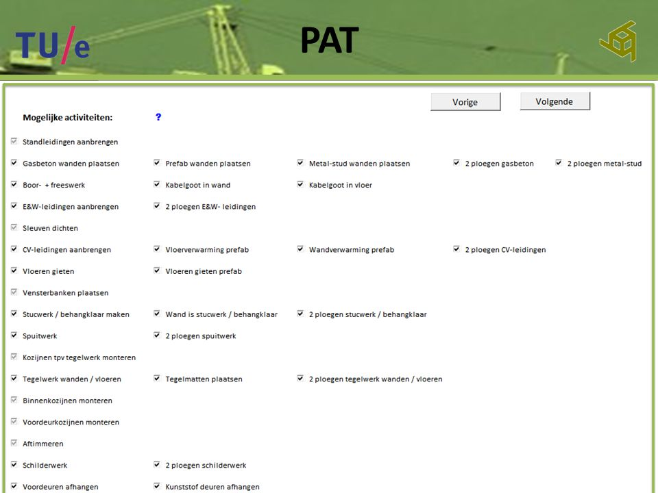 PAT Inleiding Afstudeer- onderwerp Onderzoeksfase Ontwerpfase Slot 36