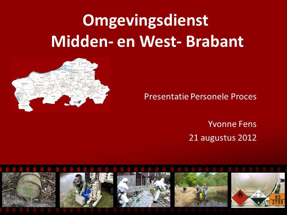 Omgevingsdienst Midden- en West- Brabant Presentatie Personele Proces Yvonne Fens 21 augustus 2012
