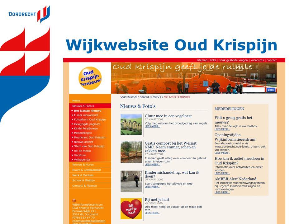 Wijkwebsite Oud Krispijn