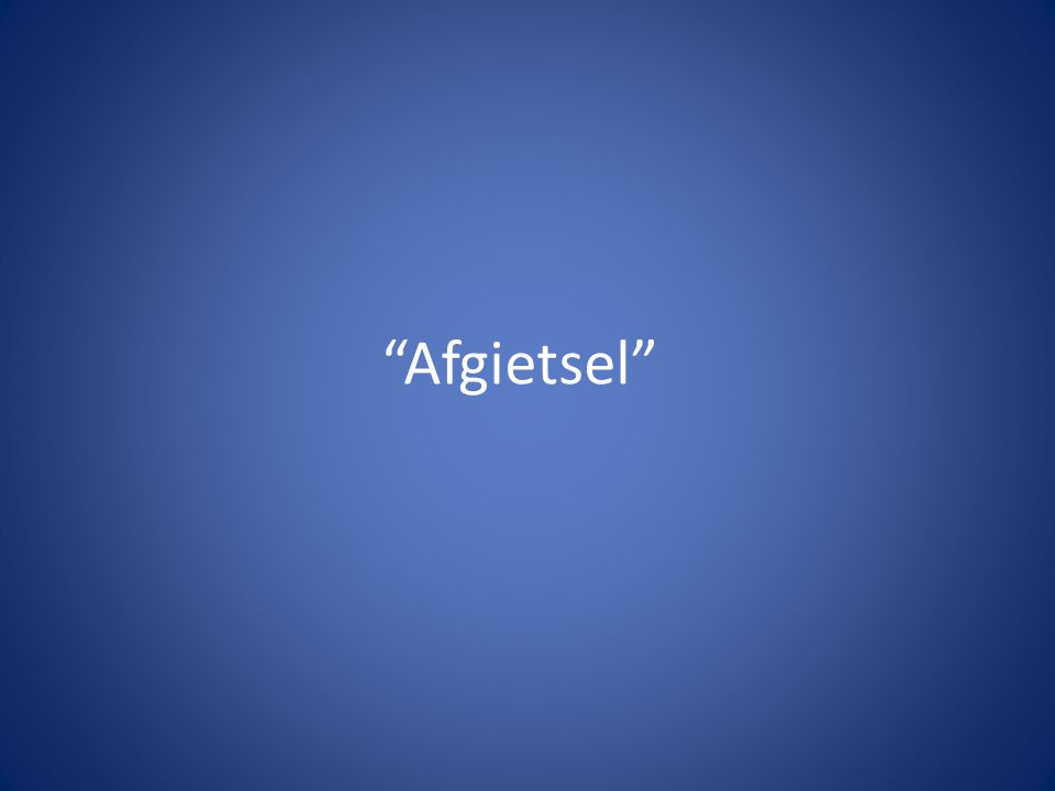 """Afgietsel"""
