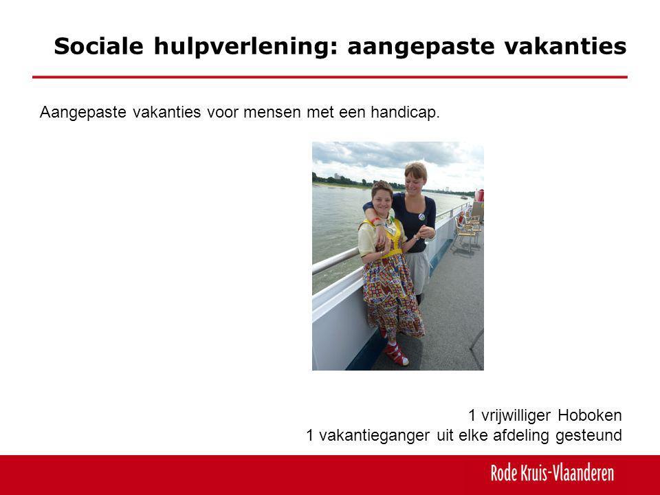 Sociale hulpverlening: aangepaste vakanties Aangepaste vakanties voor mensen met een handicap.