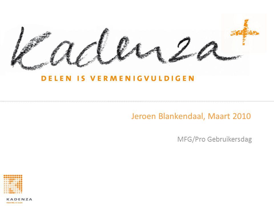 Jeroen Blankendaal, Maart 2010 MFG/Pro Gebruikersdag