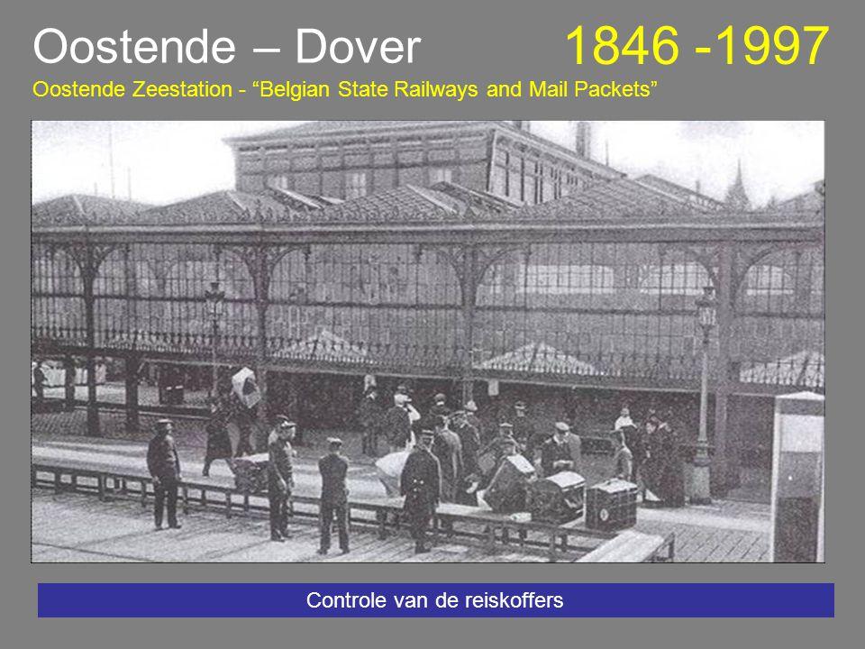 De zomer van 1997 - na de zomer werd het stationsplein heraangelegd en verkeersvrij gemaakt Oostende – Dover 1846 -1997 Oostende Zeestation - Belgian State Railways and Mail Packets