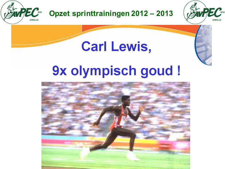 Opzet sprinttrainingen 2012 – 2013