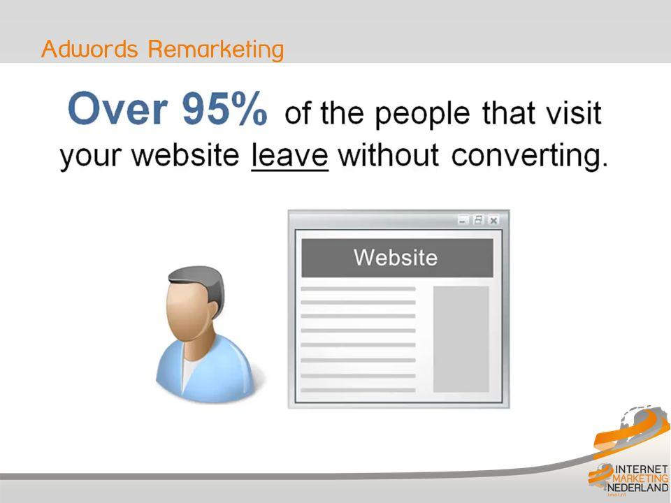 Google Remarketing Remarketing campagne, hoe werkt het: 1.