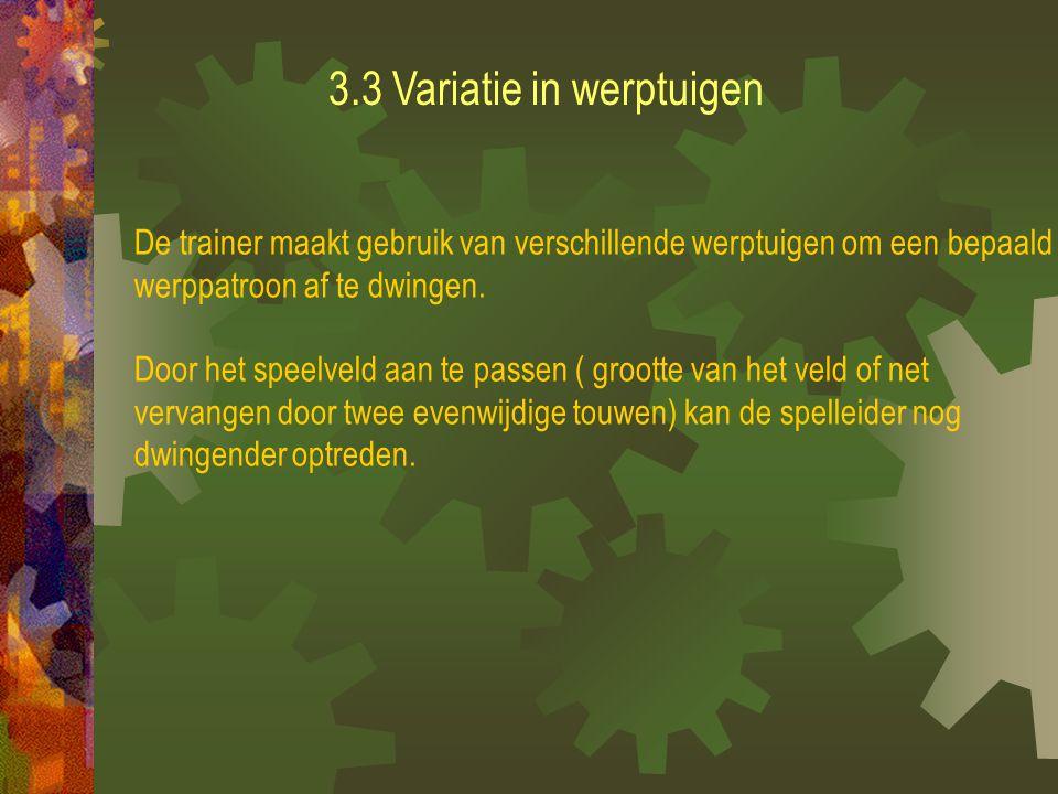 3.2 Variatie in werprichting en werpintentie De werprichting zal een invloed hebben op de uitgangshouding.