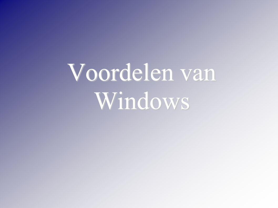 Voordelen van Windows