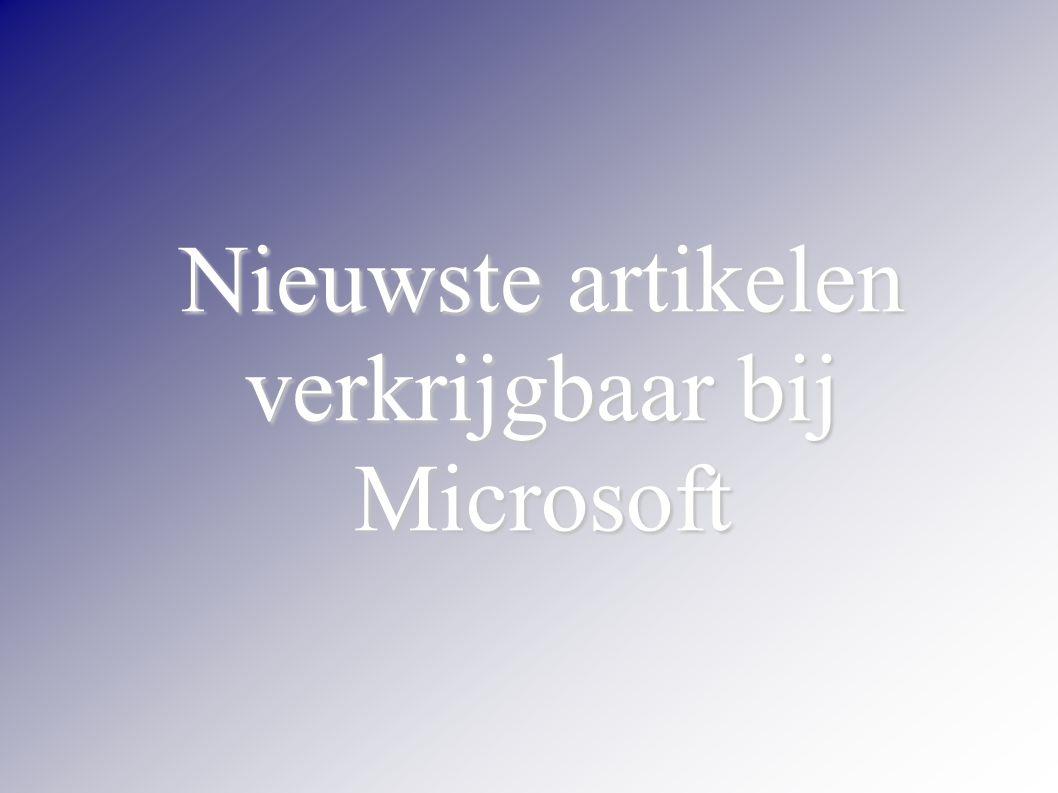 Nieuwste artikelen verkrijgbaar bij Microsoft