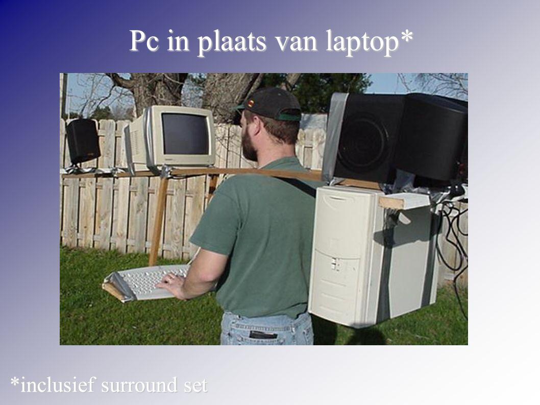 Pc in plaats van laptop* *inclusief surround set