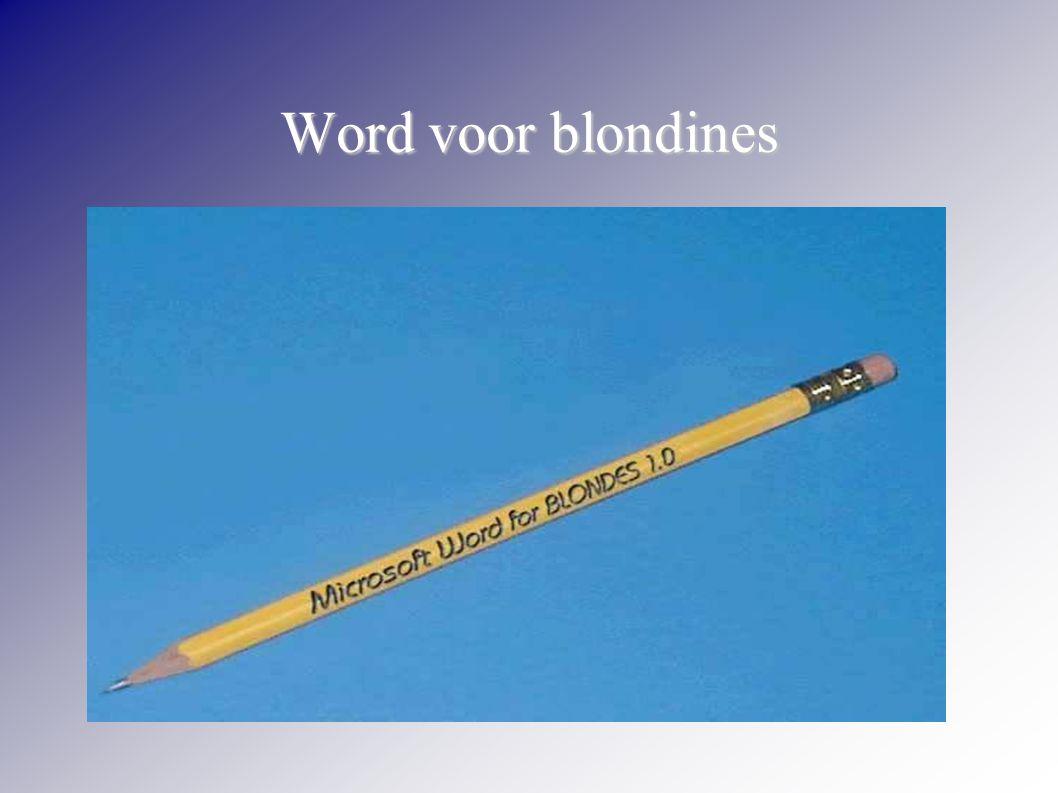 Word voor blondines