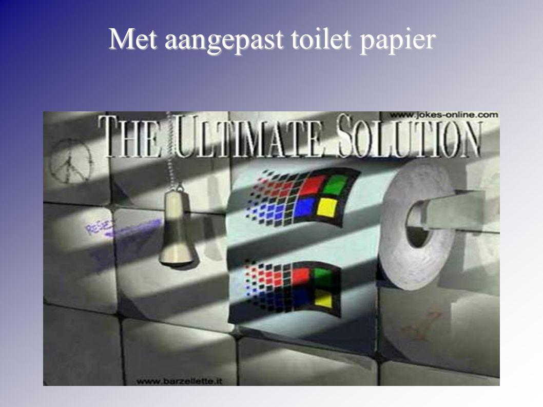 Met aangepast toilet papier